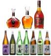 酒 (日本酒・焼酎・ウイスキー・ブランデー・ワイン・ビール・シャンパン)