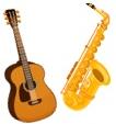 楽器 (トランペット・ピアノ・エレキギター・エレキベース・管楽器・打楽器・弦楽器)